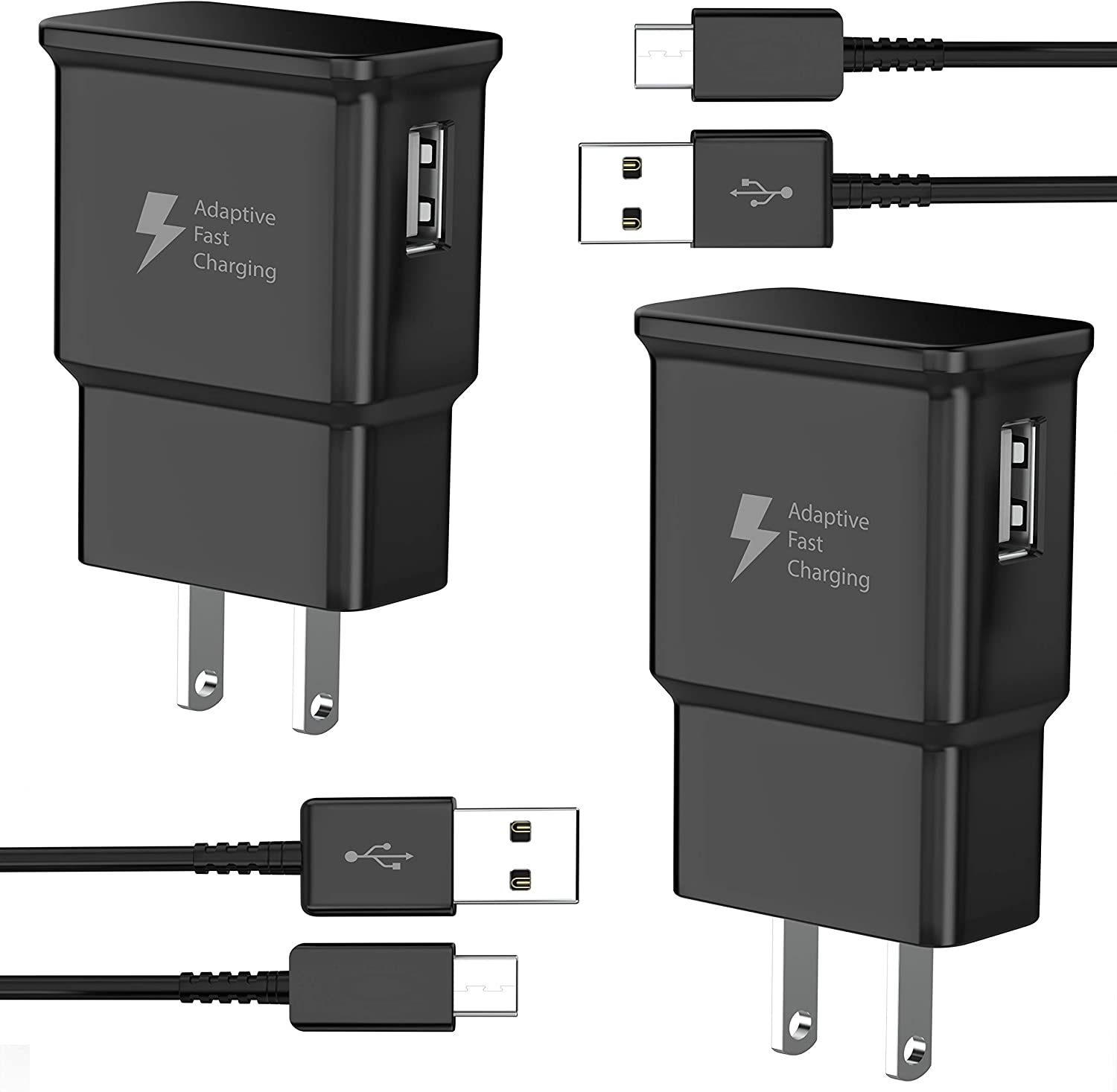 TT&C 6.6ft 2 Pack Adaptive Fast Charger kit $11.04