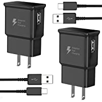 TT&C Adaptive Fast Charger kit with USB Type C Cable ( 6.6ft ) Compatible with Samsung Galaxy S8/S8 Plus/S9/S10/S10 Plus…