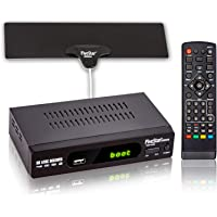 Five Star ATSC HD Digital TV Converter Box w/ 1080p HDMI Output, 40 Miles Over The Air(OTA) Flat Antenna & Amplifier…