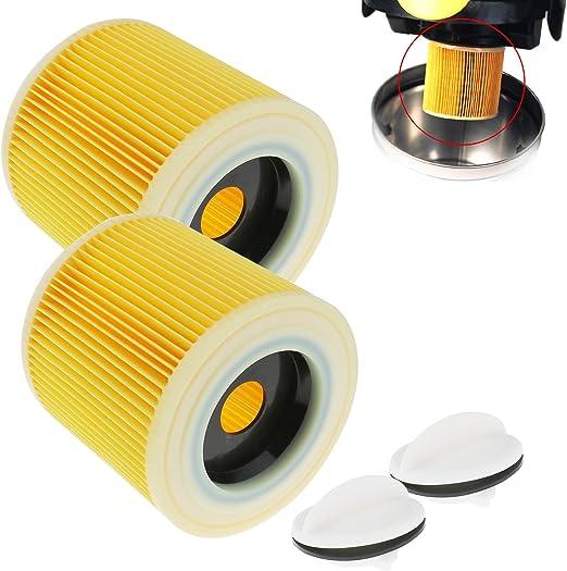 SING F LTD 2 filtros de Cartucho para aspiradoras KARCHER WD2.200 ...
