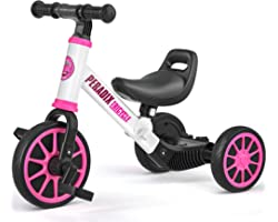 Peradix 3 in 1 Kids Tricycles for 12-48 Months Old, Three Wheels Toddlers Trike with Detachable Pedals, Toddler Tricycles Bik