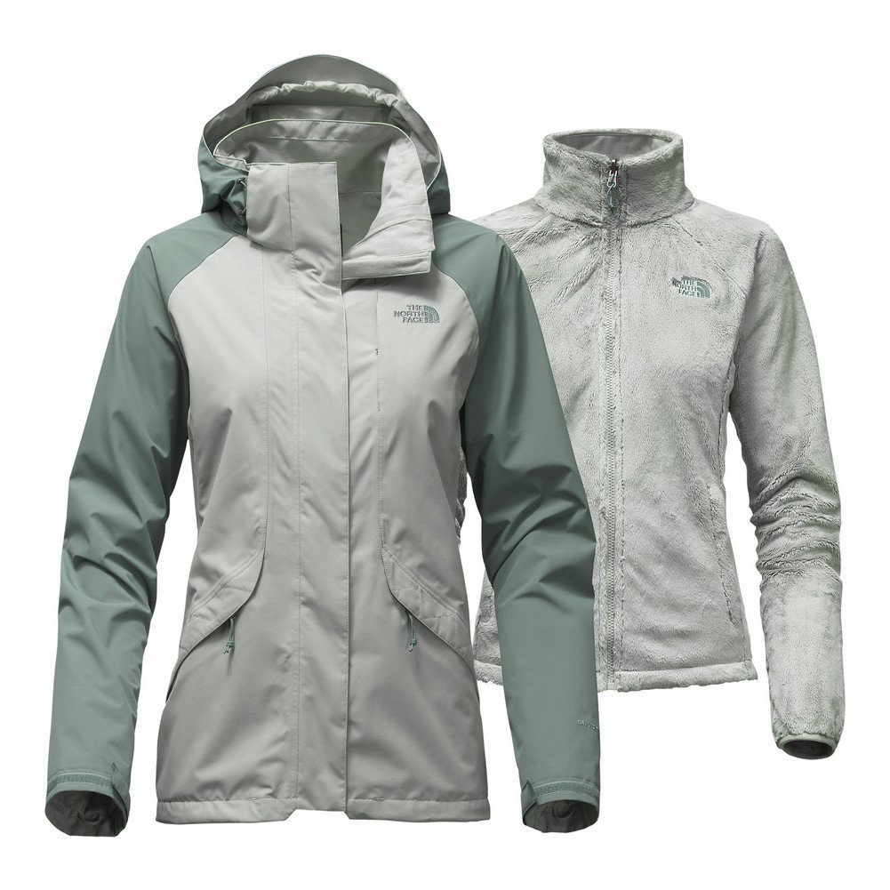 The North Face Women's Boundary Triclimate Jacket (X-Small Wrought Iron/Balsam Green) [並行輸入品] B075CJYGWK