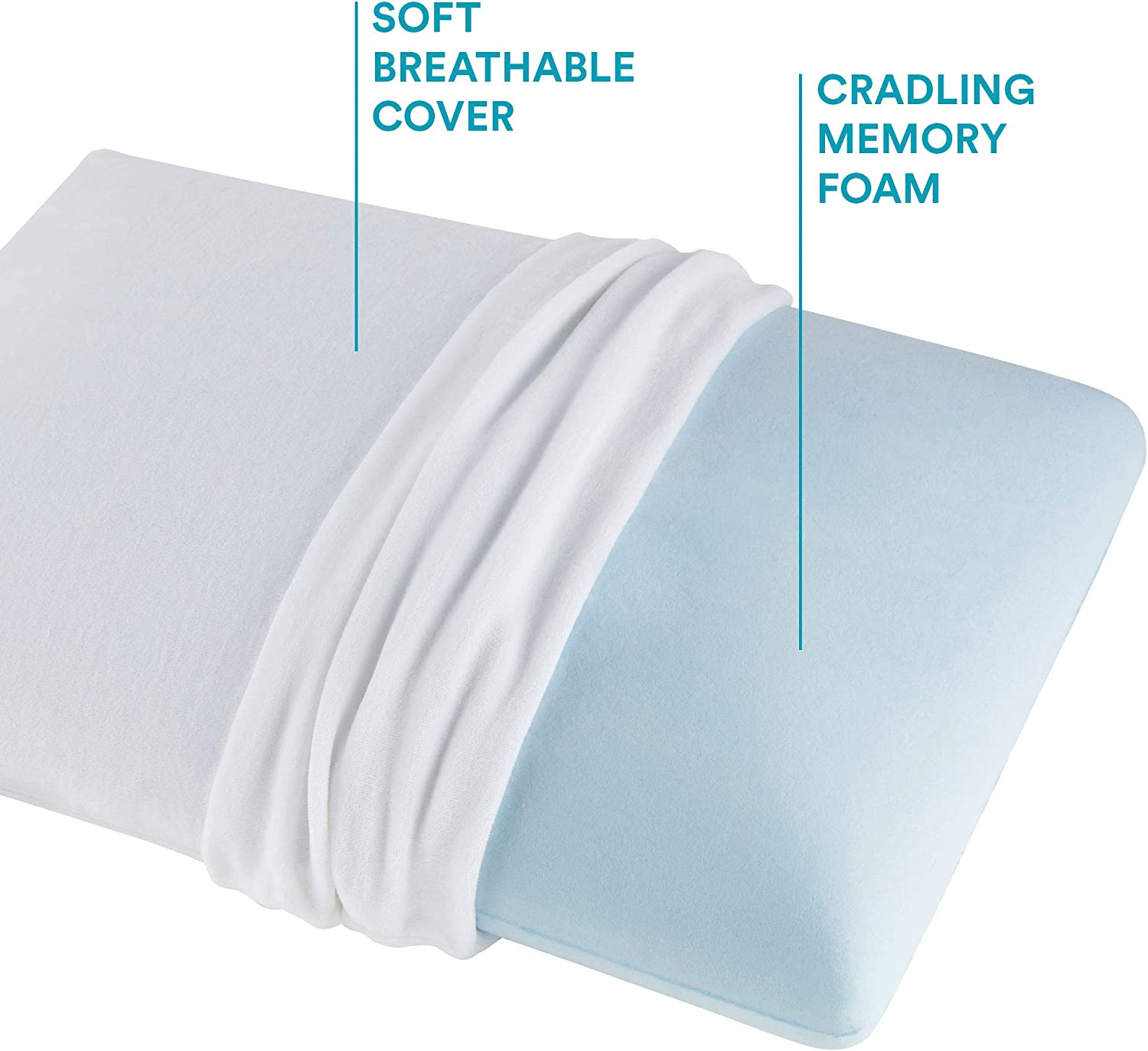 sleep innovations classic memory foam pillow standard made in the usa