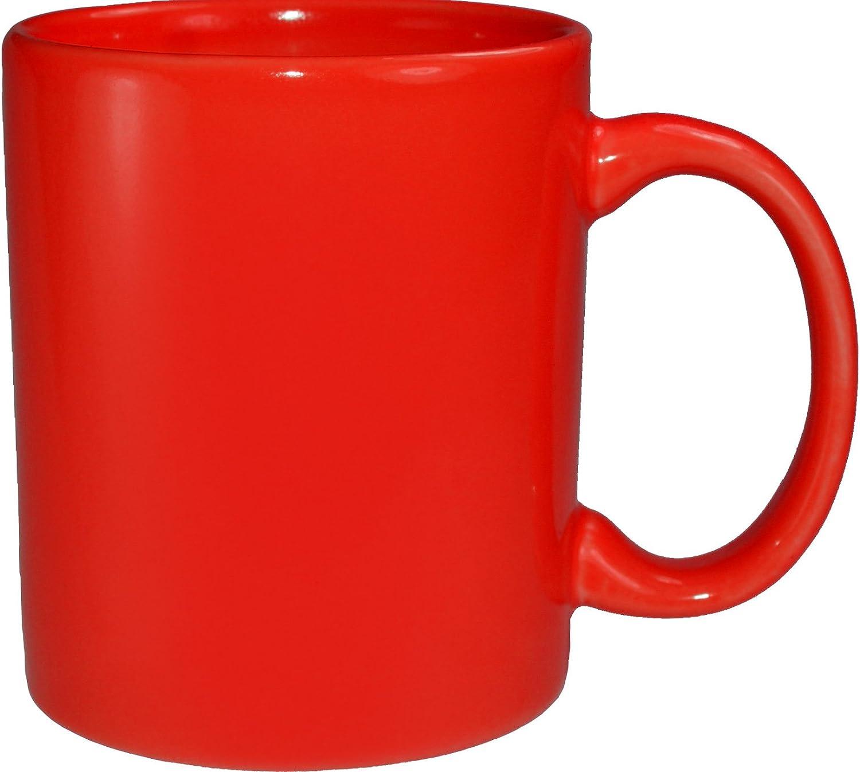 Funny Guy Mugs Plain Red Ceramic Coffee Mug, Red, 11-Ounce