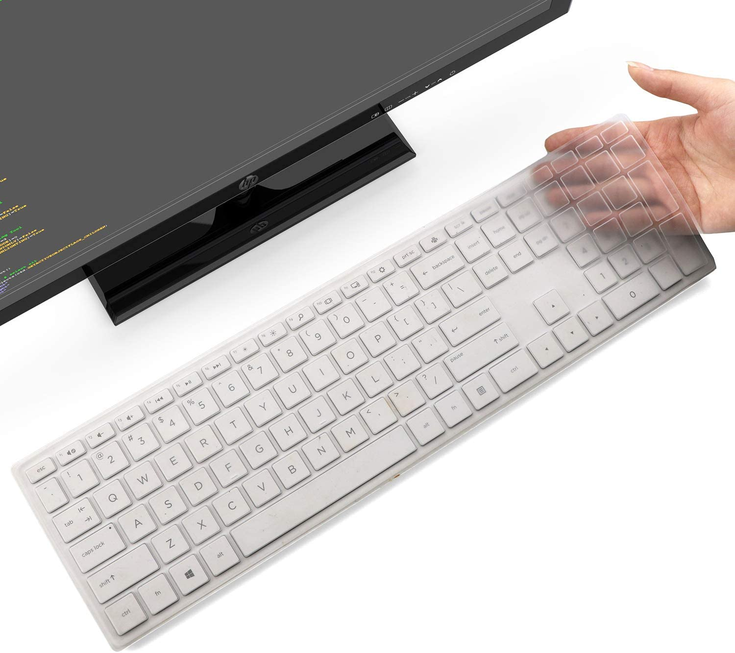 CaseBuy Keyboard Cover for HP Pavilion 27-inch All in One PC xa0050/xa0080/xa0014/0370Nd/0010Na/0076Hk, HP Pavilion 24-inch All in One xa0020/xa0032/xa0013w, HP All-in-One Accessories, Clear