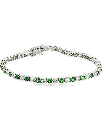 862ddde96 .925 Sterling Silver Alternating AAA Cubic Zirconia Tennis Bracelet, 7.5