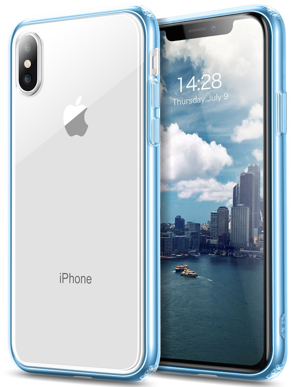 buy online 4ef62 feab7 iPhone X Case, Sankmi iPhone 10 Case, Clear Flexible TPU Shockproof Slim  Lightweight Cover Scratch Resistant Transparent Back Cushion Protection  Case ...