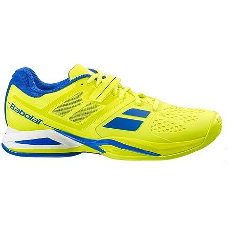 Babolat Junior Propulse Todo Terreno Zapatillas Deportivas Tipo Tenis - Amarillo/Azul - Amarillo/Azul, 39.5 EU