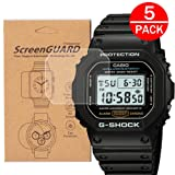 [5-Pack] for Casio DW-5600 /DW5600 Watch Screen Protector, Full Coverage Screen Protector for DW-5600Watch HD Clear Anti-Bubble and Anti-Scratch