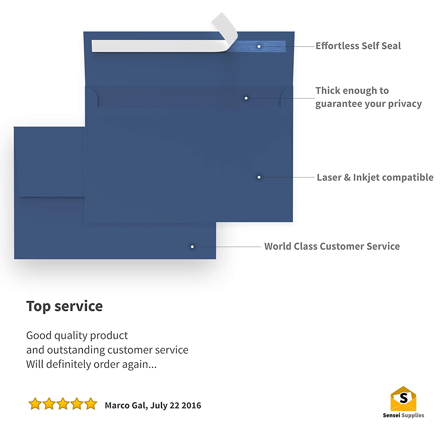 A7 - Press /& Self Seal 110 5x7 Navy Blue Invitation Envelopes Square Flap Graduation 120 GSM Peel for 5x7 Cards 5 /¼ x 7 /¼ inches Baby Shower - Perfect for Weddings