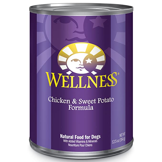 Wellness Complete Health Natural Wet Canned Dog Food, Chicken & Sweet Potato, 6-Ounce Can (Pack of 24)