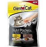 GimCat Nutri Pockets   Knuspersnack mit cremiger Füllung und funktionalen Inhaltsstoffen   Ohne Zuckerzusatz   1 Beutel (1 x 150 g)