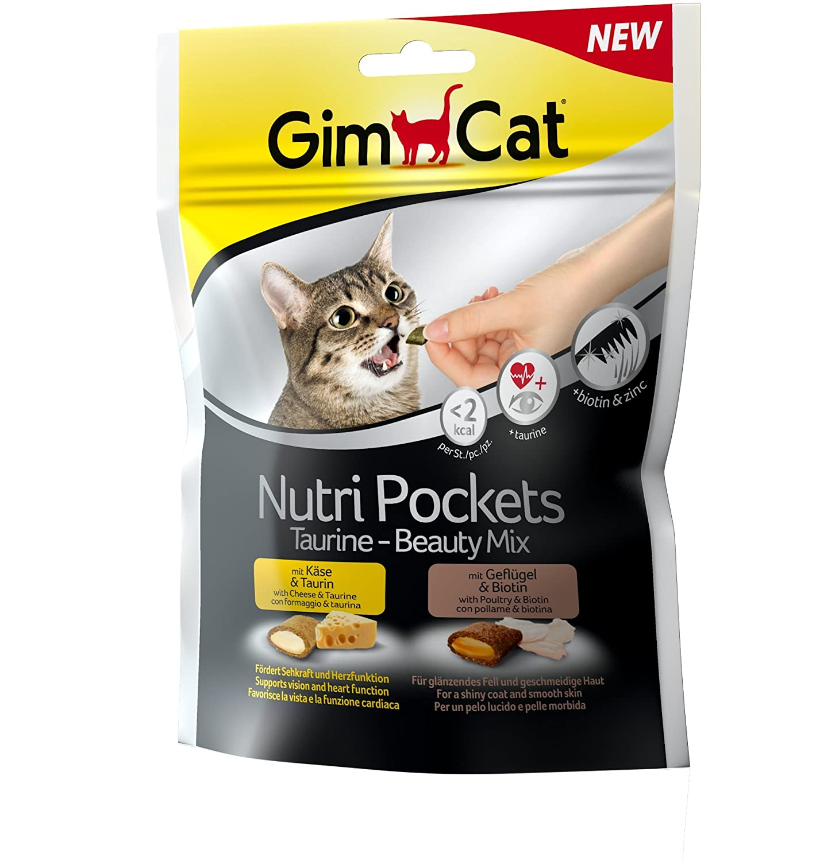 GimCat NUTRI Pockets taurine de Beauty Mix, 1er Pack (1x 150g) H. von Gimborn GmbH 400686