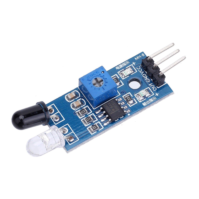 Merssavo 10 pieces IR Module infrarouge de capteur d/évitement dobstacle pour le robot intelligent 3 de voiture dArduino