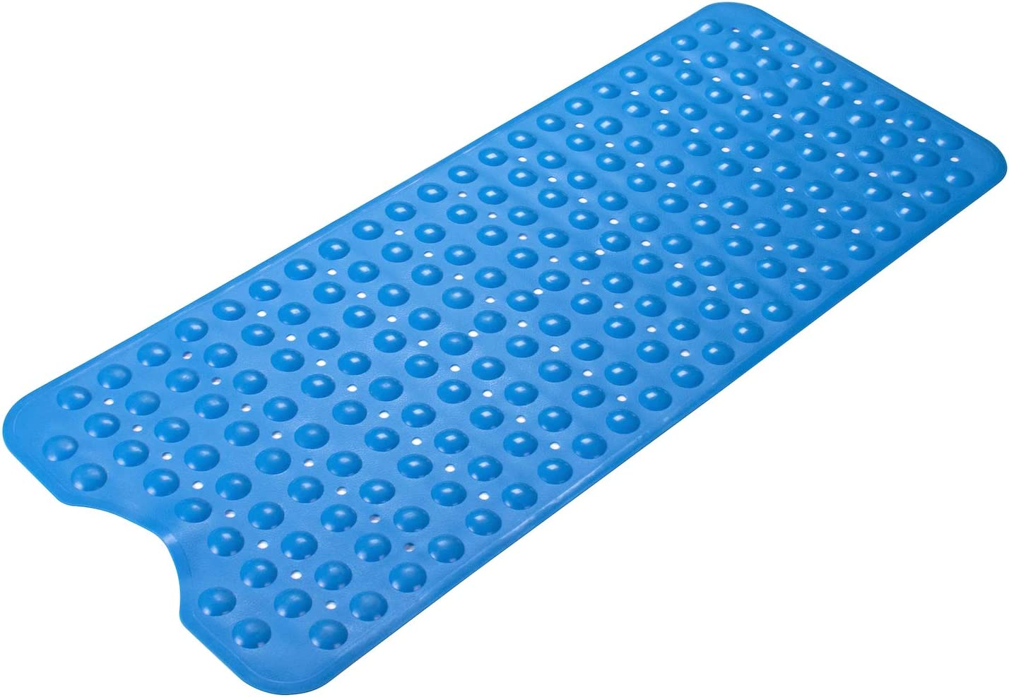 AmazerBath Bath Tub Mat, Larger Suction Cups Bath Mats with Strong Grip, Safe TPE Material, Machine Washable, Non-Slip Shower Mats for Bathroom, 39 x 16 Inches (Blue): Home & Kitchen