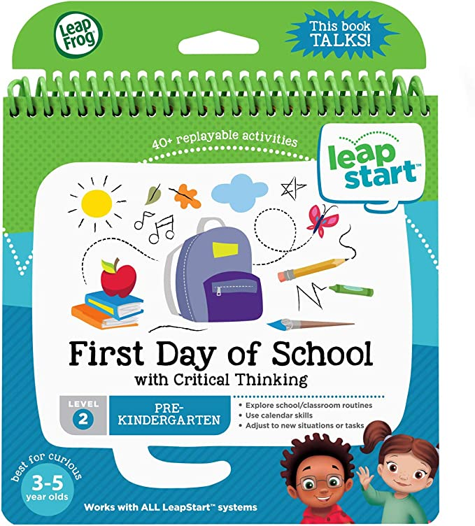 Amazon.com: LeapFrog LeapStart First Day of School and Critical Thinking Book: Toys & Games