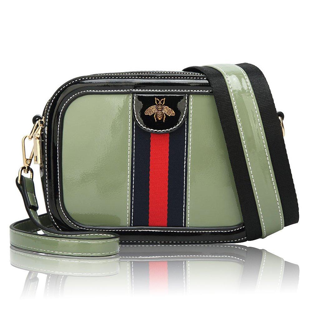 81378613b1faf6 Women Genuine Leather Designer Shoulder Bag Camera Crossbody Bag Mini Bee  Handbag (green): Amazon.ca: Shoes & Handbags