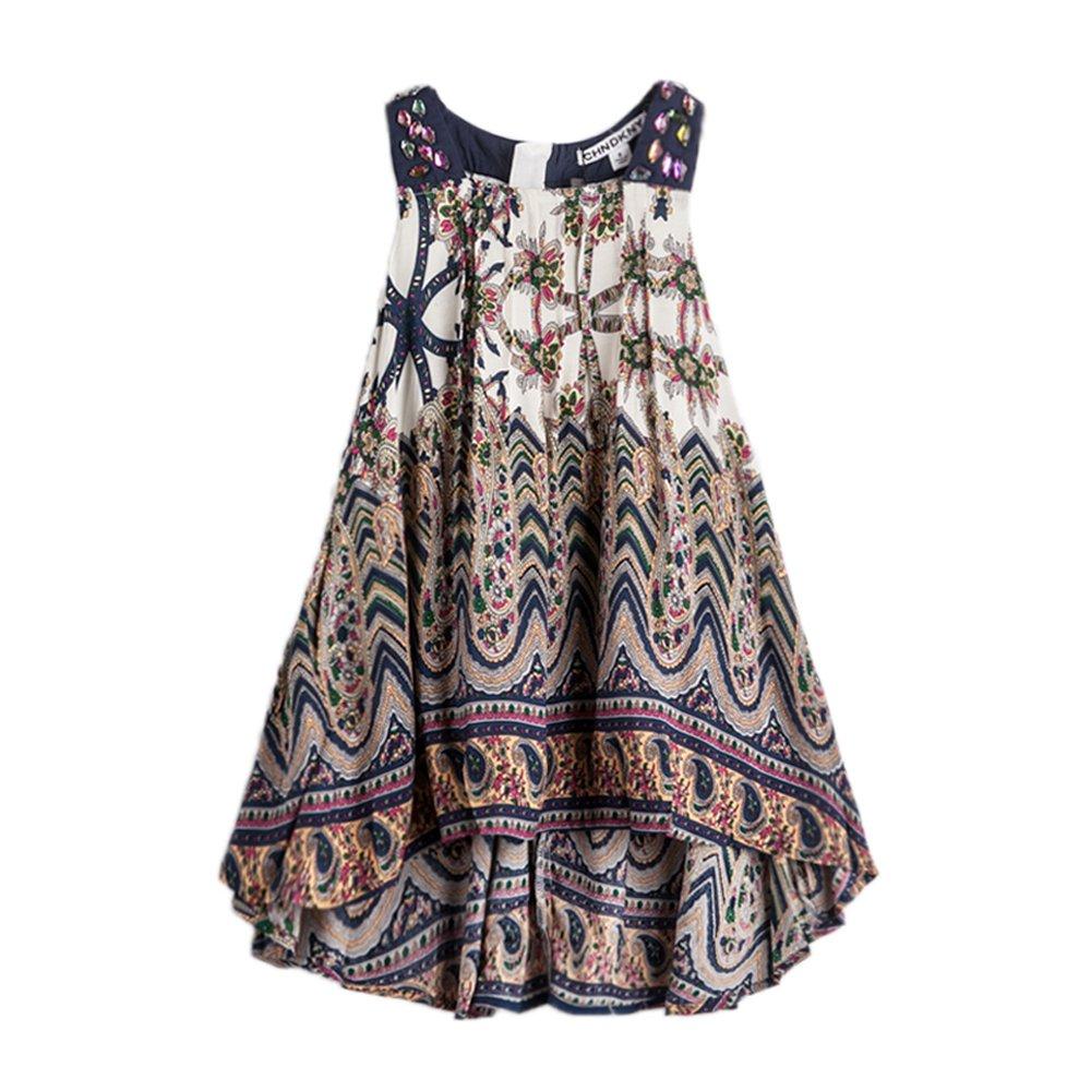 childdkivy Baby Girls Summer Dress Bohemian Fashion Clothes (8(7-8year), Bohemian)