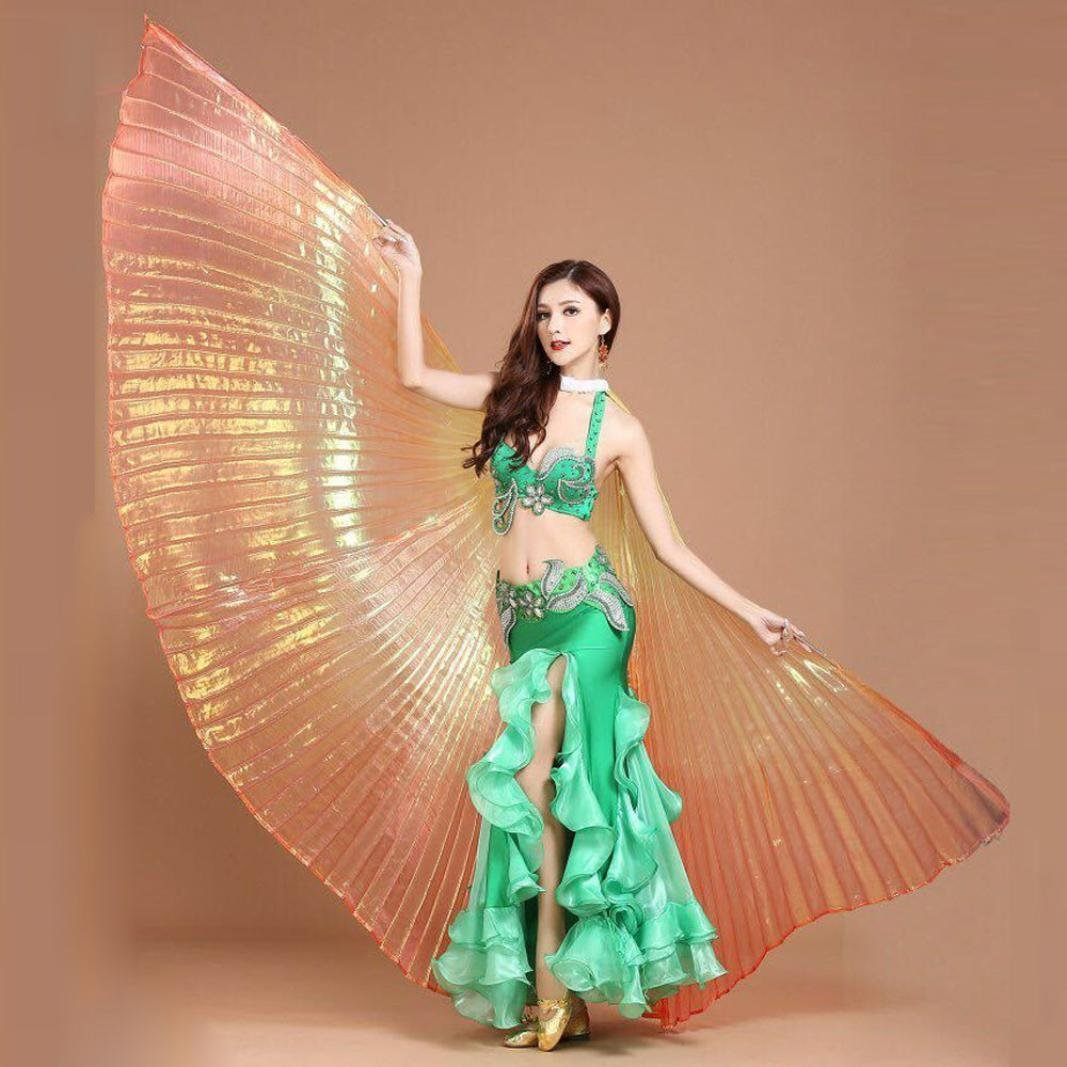 Amazon.com: NEWONESUN Egypt Belly Wings Dancing Costume Belly Dance accessories No Sticks (Red): Clothing