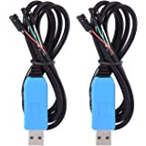 Sumind 2 Pack Debug Cable for Raspberry Pi USB Programming USB to TTL Serial Cable, Windows XP/VISTA/7/8/8.1 Supported