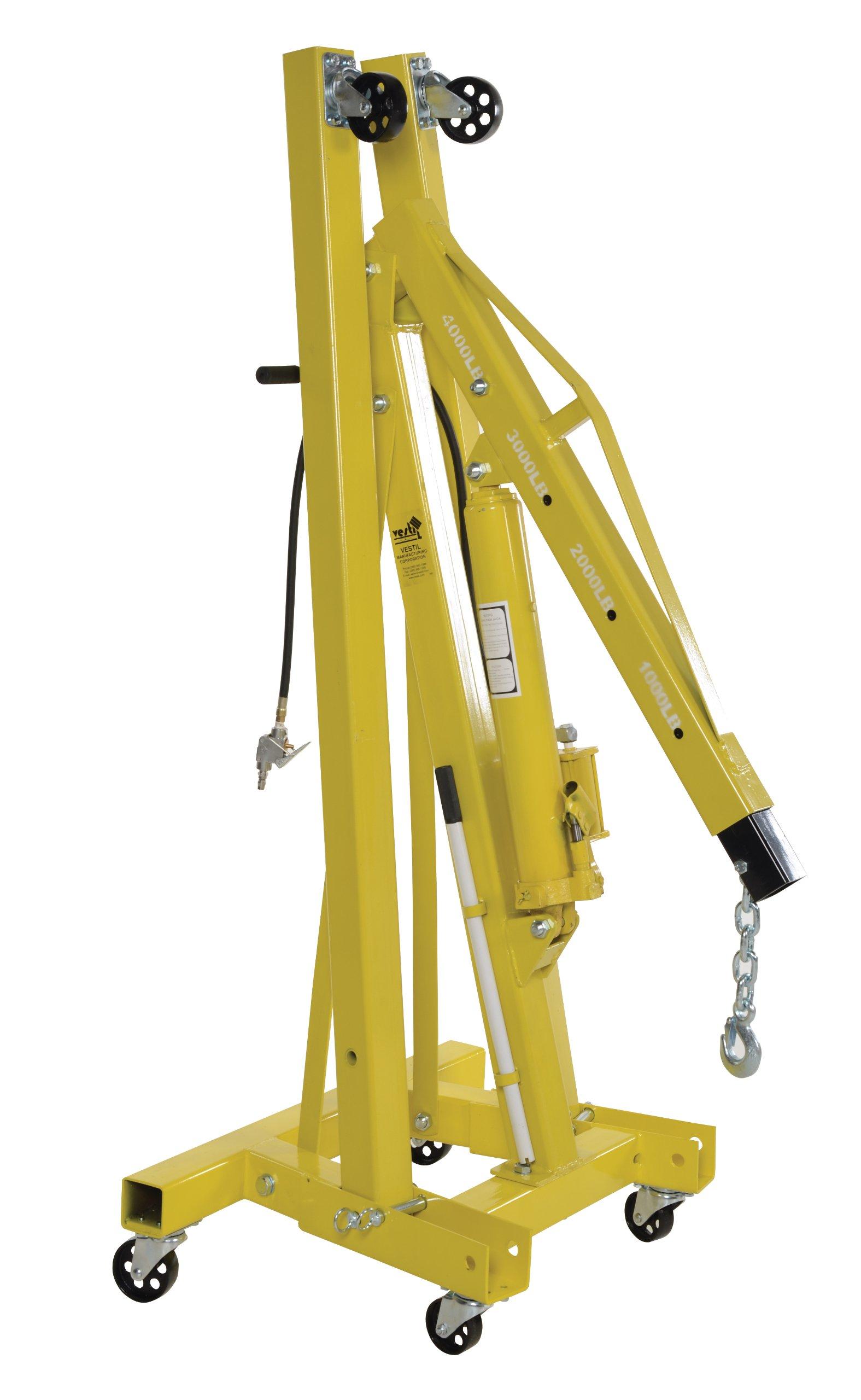 Vestil EHN-40-C-AH Steel Air/Hand Pump Hydraulic Shop Crane Engine Hoist with Folding Legs 4000 lbs Capacity by Vestil (Image #4)