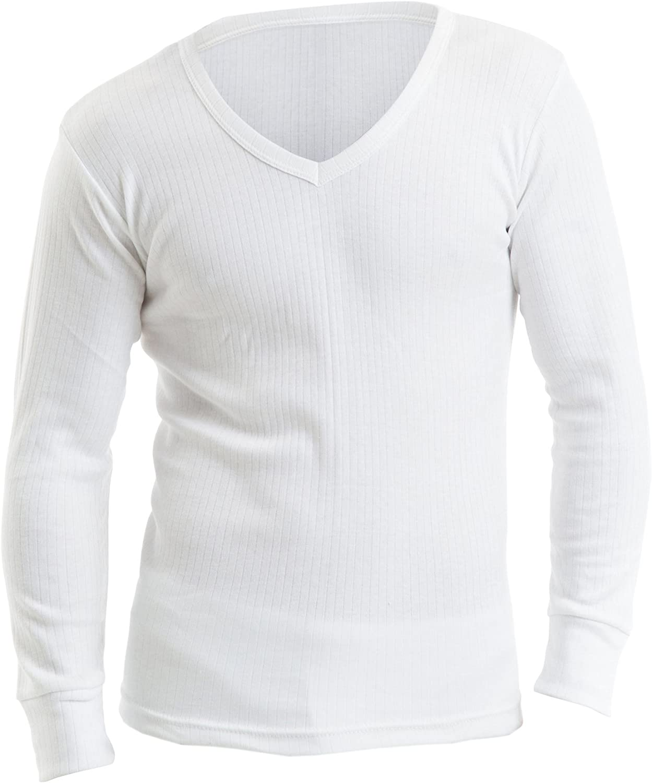 Large Mens Thermal Underwear Long Sleeve Vest T-Shirt