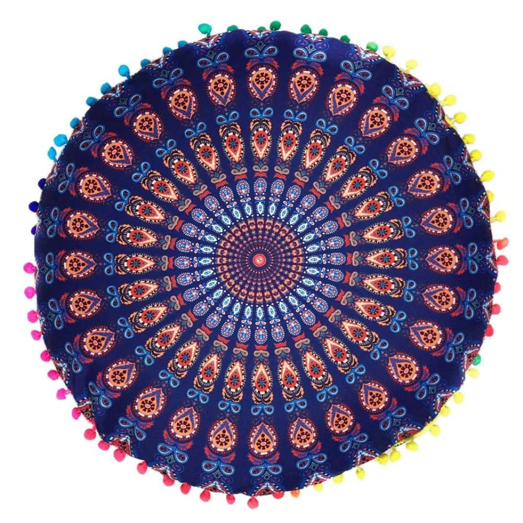 LONUPAZZ coussins de sol Mandala indian Coussin rond de Bohême Housse de  coussin (H)  Amazon.fr  Cuisine   Maison cc1c6eaf1262