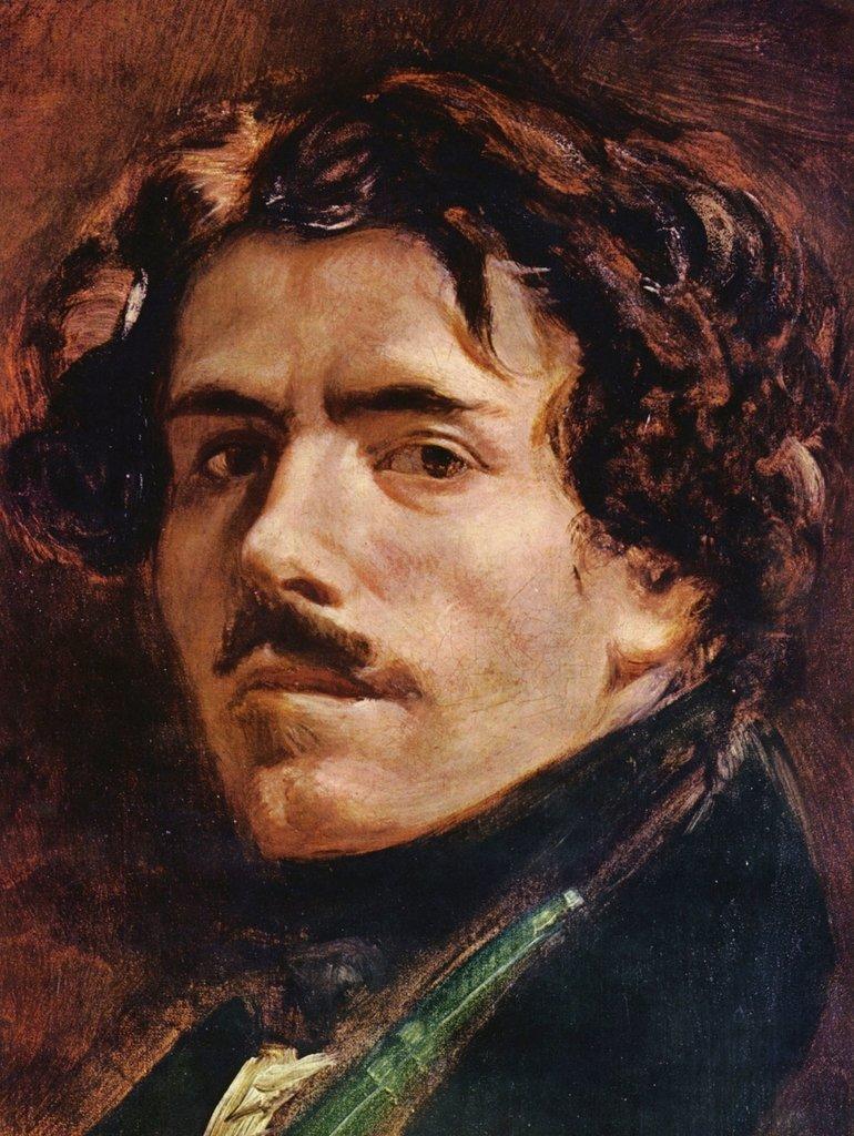 Lais Puzzle Eugène Ferdinand Victor Delacroix - Selbstporträt, Detail 2000 Teile