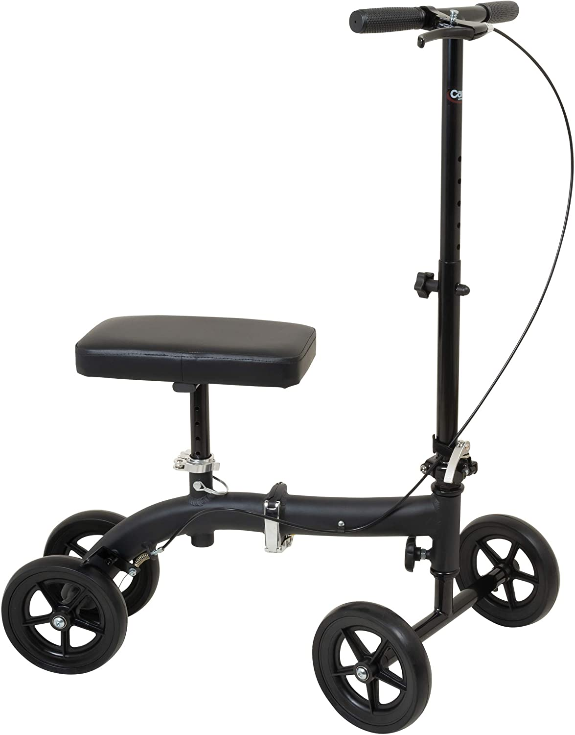 Carex Folding Knee Walker Scooter - Knee Scooter for Foot Injuries, Ankle Injuries, Broken Foot - Medical Scooter for Foot Surgery 71BQD82YgYLSL1500_