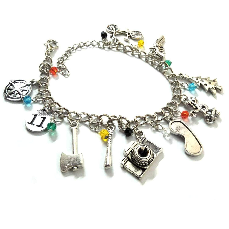 The Eleven Stranger Things Bracelet for Girls Women - 011, Bob, Dustin, Chief Hopper Costume Merchandise Erica, Lucas, Barb Gifts