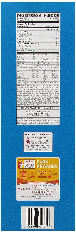 Kellogg S Rice Krispie Treats Nutritional Information ...