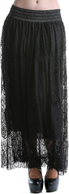Crazyinlove Mujer Falda Larga Negra Negro X-Large: Amazon.es: Ropa ...