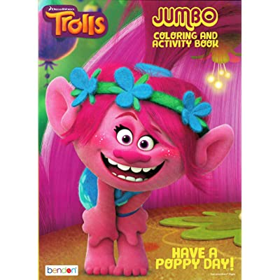 Dreamworks Trolls Have A Poppy Day Jumbo Coloring and Activity Book, Pink: Toys & Games