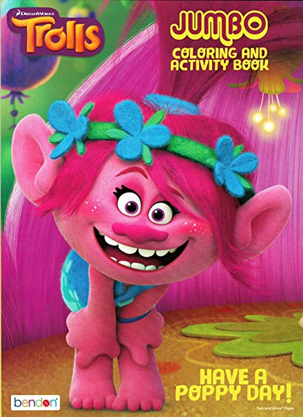 Trolls Spread the Hug Coloring and Activity Book with Crayons and Stickers Bendon
