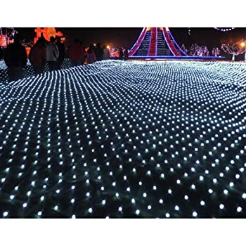 bluespace outdoor string lights waterproof led light christmas decorations net mesh fairy decorative lights for christmas tree outdoor garden home decor