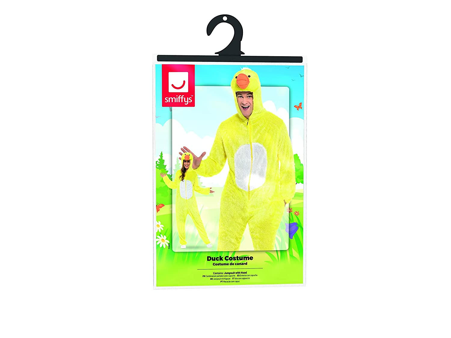 Amazon.com: Smiffys Mens Duck Costume Includes Jumpsuit with Hood: Clothing