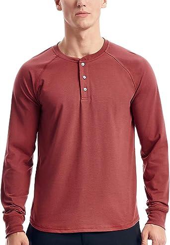 Henley Camisa de Manga Larga para Hombre: Amazon.es: Ropa y accesorios