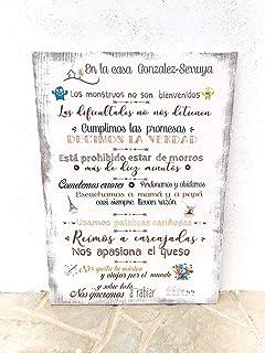 Enkolor/Chapas Decorativas Pared/Carteles Vintage/Decoración ...