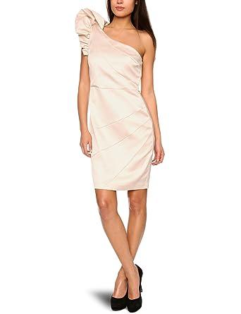 d2cb630656c050 Lipsy DR05571 One-Shoulder Women s Dress Champaign 10  Amazon.co.uk ...
