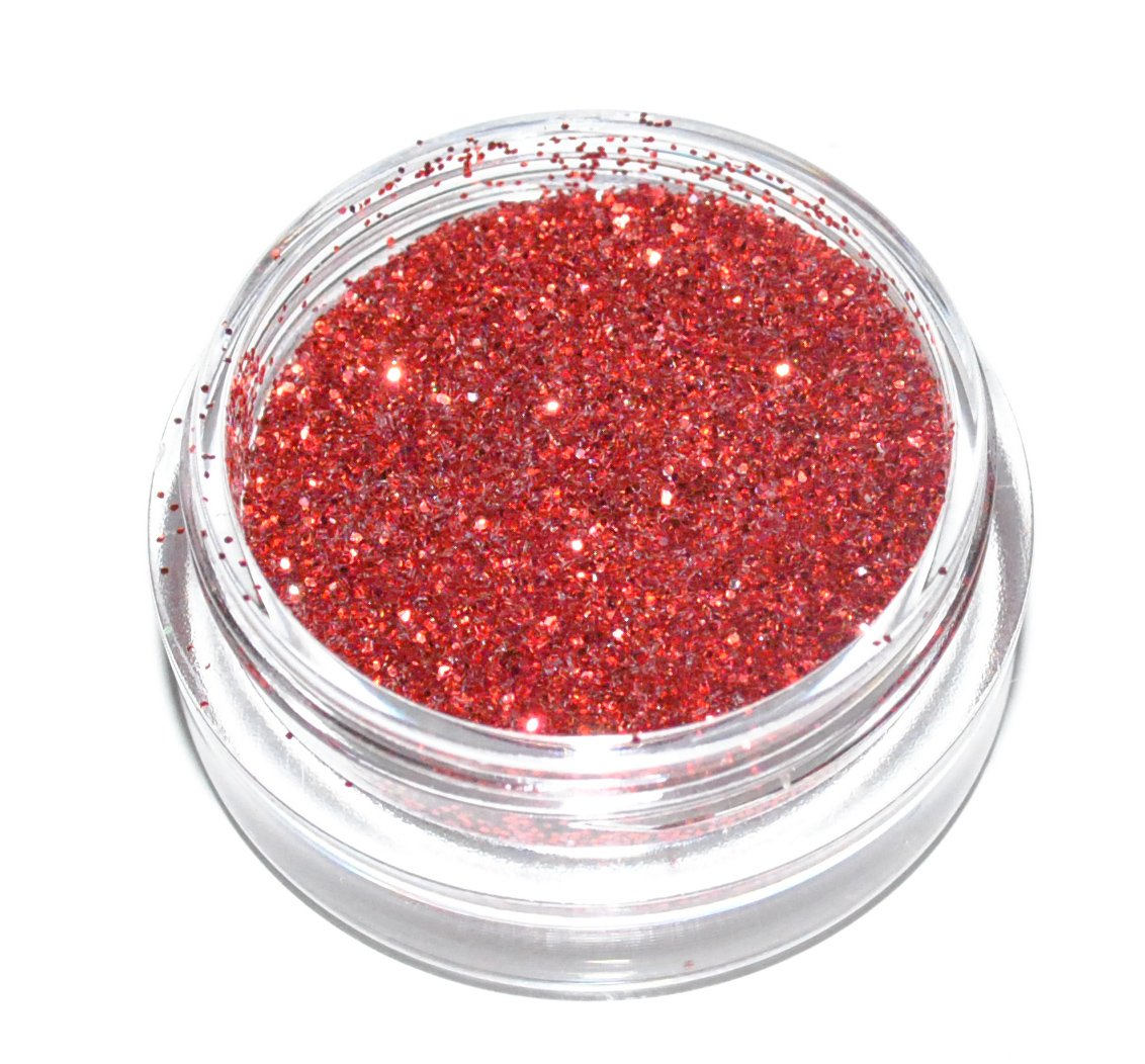 Red Sparkle Eye Shadow Loose Glitter Dust Body Face Nail Art Party Shimmer Make-Up Kiara H&B