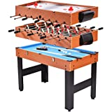 "Giantex 48"" 3-In-1 Multi Combo Game Table Foosball Soccer Billiards Pool Hockey For Kids"