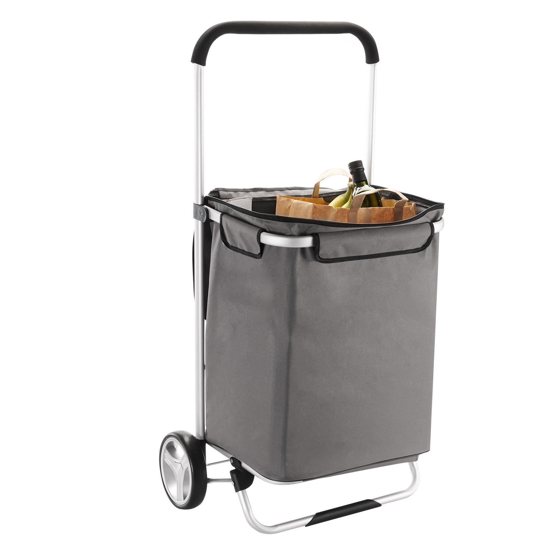 Homz Large Euro Tote Shopping Cart,