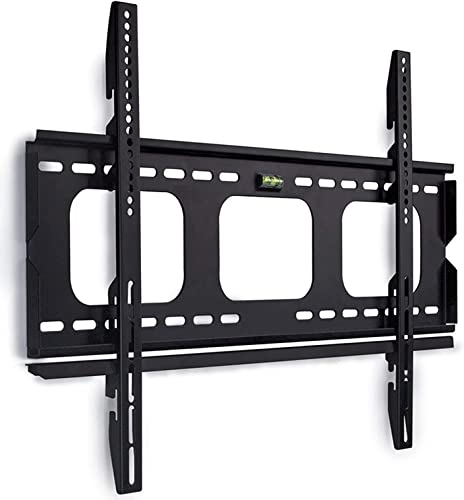 Mount-It Low-Profile TV Wall Mount 1 Slim Fixed Bracket for 32, 40, 42, 48, 49, 50, 51, 52, 55, 60 inch TVs VESA Compatible up to 600 x 400 Black