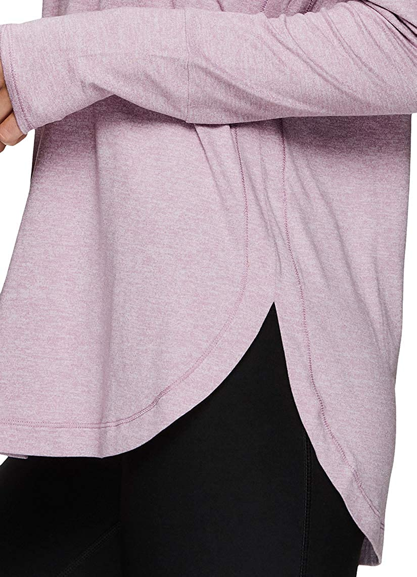 RBX Active Womens Fashion Athletic Long Sleeve Super Soft Peached Crewneck T-Shirt Tunic