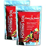 Organic Potting Soil Mix Ready to use Organic Fertilizer nutrients Balanced Water Absorption Prevents Root-Rot Beneficial microbes for Flowers Vegetables and Ornamental Plants (25 KG)