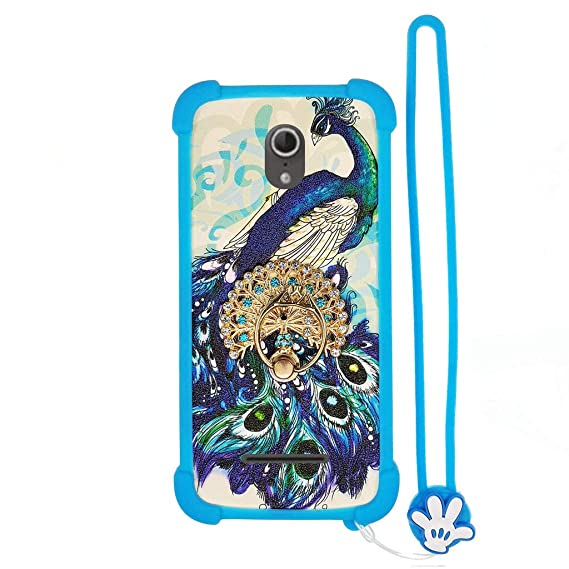 Case for Vodafone 890N Smart 4 Turbo Case Silicone border + PC hard backplane Stand Cover
