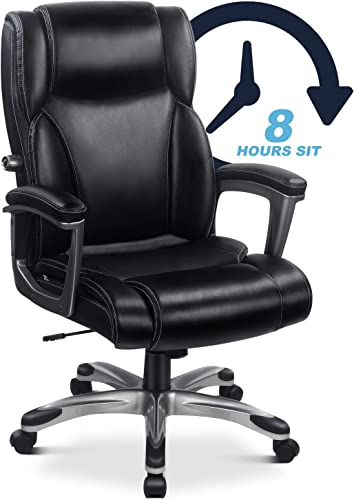 High Back Executive Leather Office Chair Desk Chair Home Computer Chair