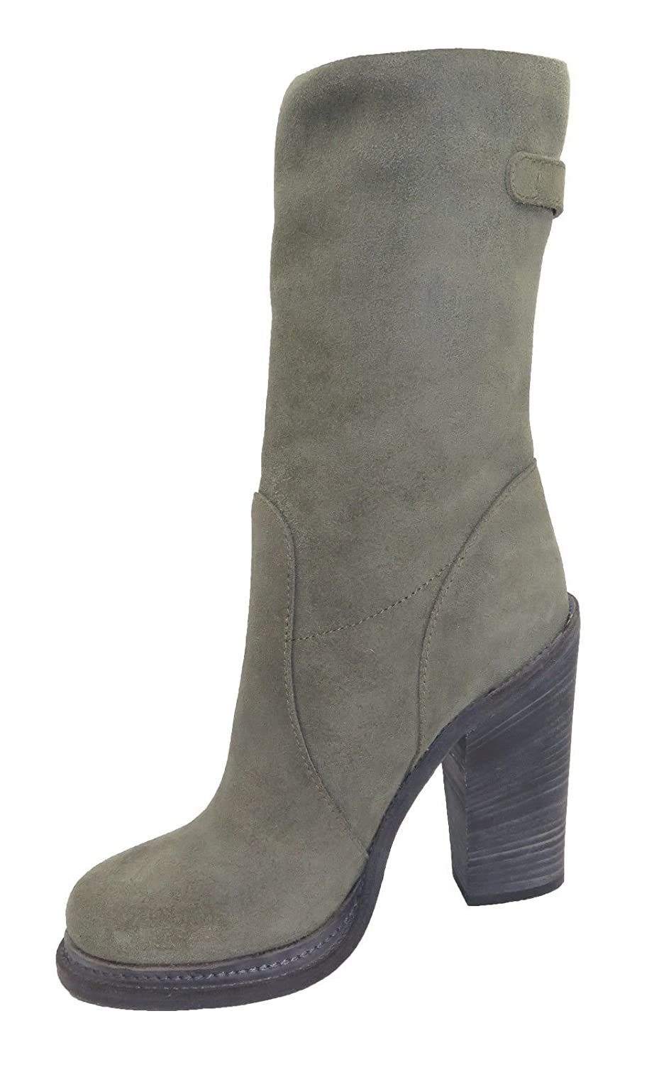 DOLCE & GABBANA Woman's Olive Green Suede Boots Size 7