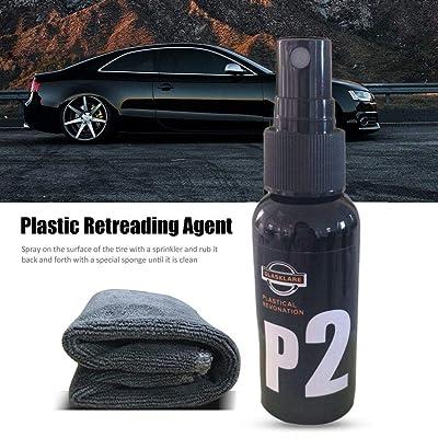 50ML, agent de reconditionnement de revêtement en plastique des véhicules à moteur de pulvérisation, agent de rechapage de revêtement intérieur anti-oxydation, nettoyant intérieur d'entretien de cuir