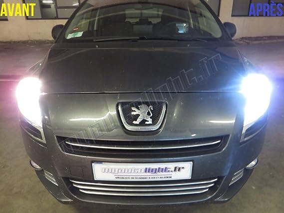 Pack Bombillas H7 blanco Xenon luz croisement-code para Peugeot 5008: Amazon.es: Coche y moto